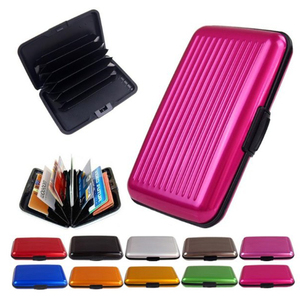 Wholesale Anti theft RFID blocking card case/credit card protector holders/printed id card blocking wallet