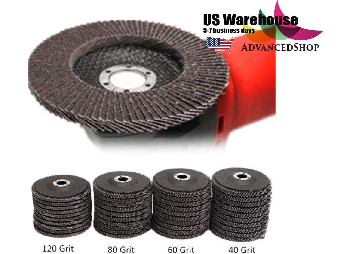 10pcs 100mm 40 60 80 120 Grit Angle Grinder Flap Sanding Disc Grinding Wheels [US Warehouse] by AdvancedShop (#80)