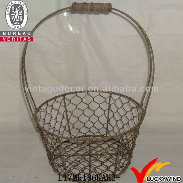 Vintage durable mesh wire baskets