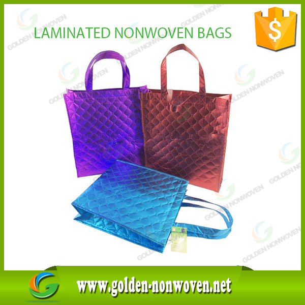Hot Sale PP Spun bonded Ultrasonic Non-woven Bag/Factory Price laminated non-woven bag/fancy shopping bag