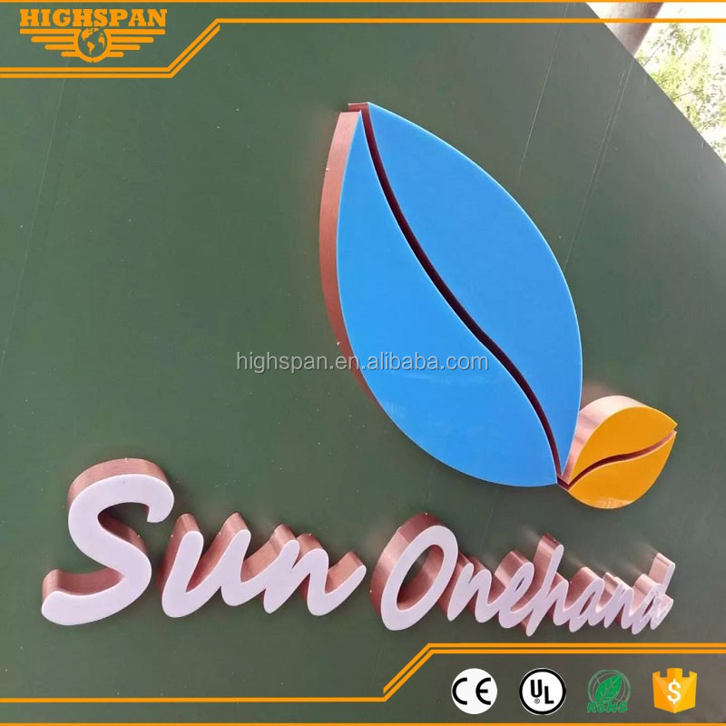LED Channel Letter Sign-Surface Illuminated, Painted Sheet Metal Side,Out door letter
