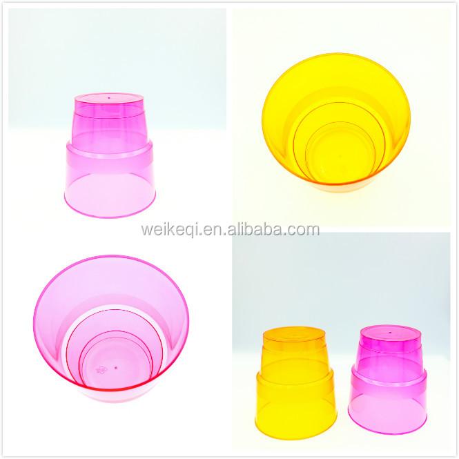 זהב מסגרת פלסטיק מתכלה pla קומפוסט פלסטיק כוס 9 אונקיה חד פעמי כוסות יין קוקטייל כוסות
