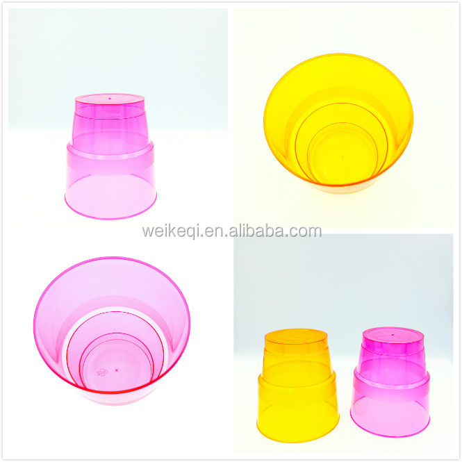 Emas Berbingkai Plastik Biodegradable PLA Kompos Plastik Cup 9 Ons Sekali Pakai Gelas Anggur Cocktail Cangkir