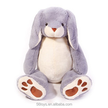 Alibaba new wholesale Plush Long Ear Bunnies Stuffed Plush Rabbit for Easter Day