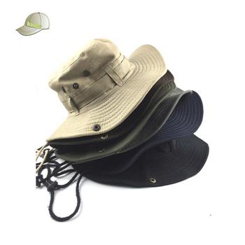 Outdoor Climbing Fishing Bucket Hat Fisherman Hat Jungle Round ... ef723edba1d