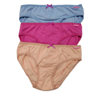 Ladies 100%cotton panties women solid color underwear