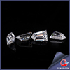 customized taper bullet cut moissanite white clear clarity moissanite vvs diamond