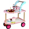 Kids Pretend Play Cart Toy Ice Cream Shop Truck Toy Mini Wooden Walker Trolley kitchen set