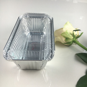 175*95*49mm 500ml Asia maket popular size stackable disposable biodegradable aluminum foil food service container tray
