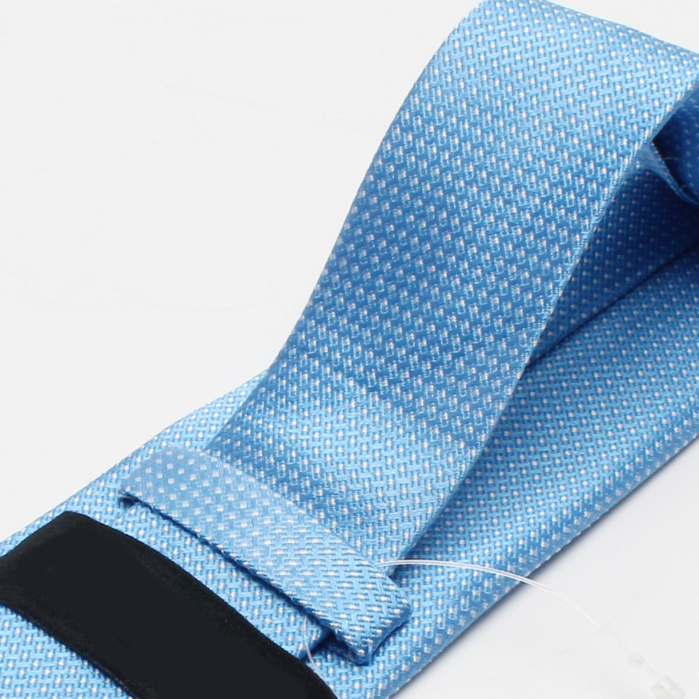 New Design OEM Service Sky Blue Woven Silk Men School Neck Ties