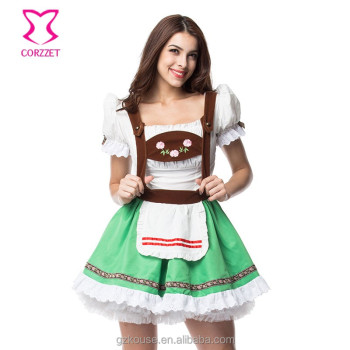 Halloween Sell Maid Outfits Bavarian Oktoberfest Party Sexy Beer Girl Halloween Costumes For Women Plus Size Fancy Dress XXL