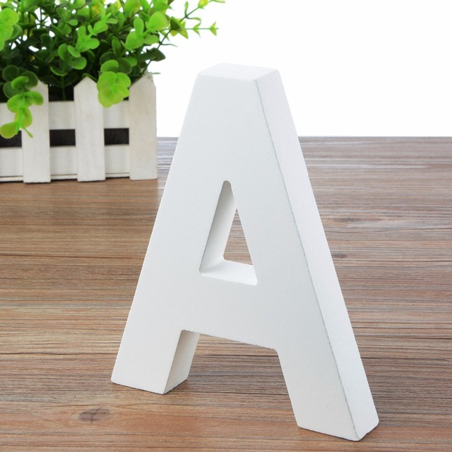 Wall Letters Marquee Wood Alphabet Wooden Number Diy Block Words Sign  Hanging Decor Letter For Home