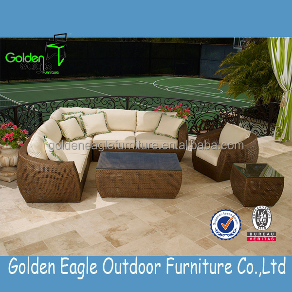 Beautiful Noble House Furniture Rattan Sofa With Waterproof Cushion