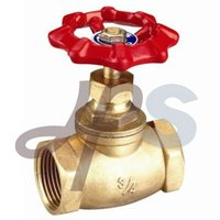 Brass Globe stop Valve with Steel Wheel