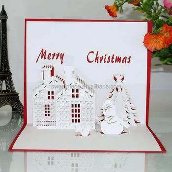 Handmade paper laser cut greeting 3d pop up christmas card with handmade paper laser cut greeting 3d pop up christmas card with envelope m4hsunfo