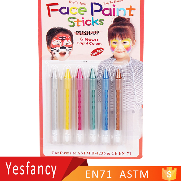 new style neon bright colors face body painting set make up face paints body paint