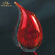 Custom Hand Blown Red Art Glass Vase Shaped Trophy