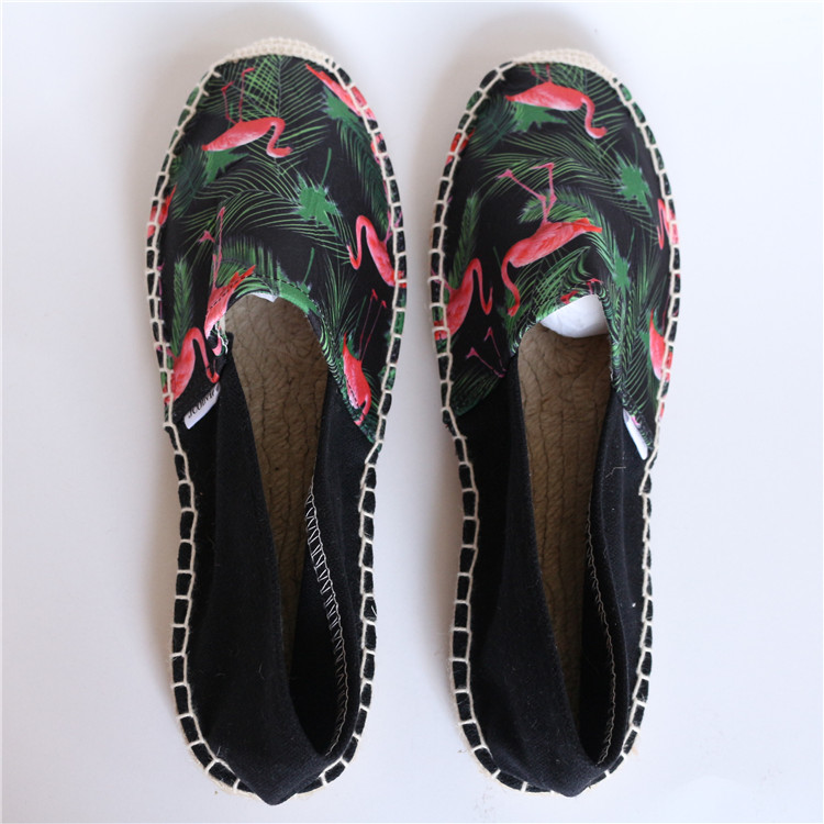 Hengfeng Personnalisé dames d'été bas cales jute espadrilles chaussures