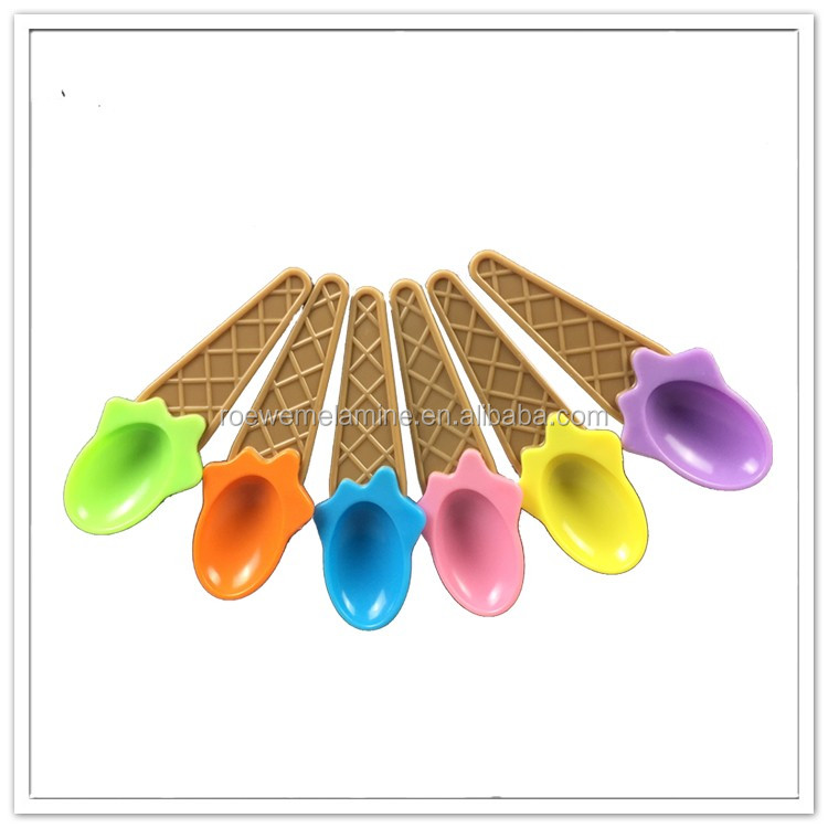Wholesale candy color wedding favor kitchen utensils ice-cream plastic spoon