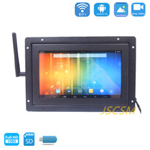 cheap metal frame tv screen elevator display 9 inch tft lcd monitor 12v