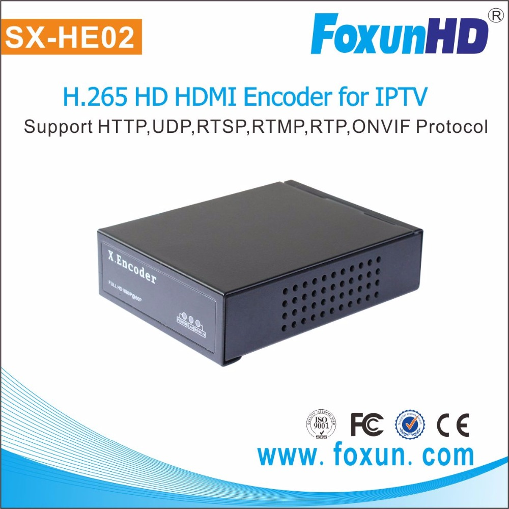 2016 newest Foxun SX-HE02 HDMI to IP HD HDMI H.265 Encoder iran iptv set top box