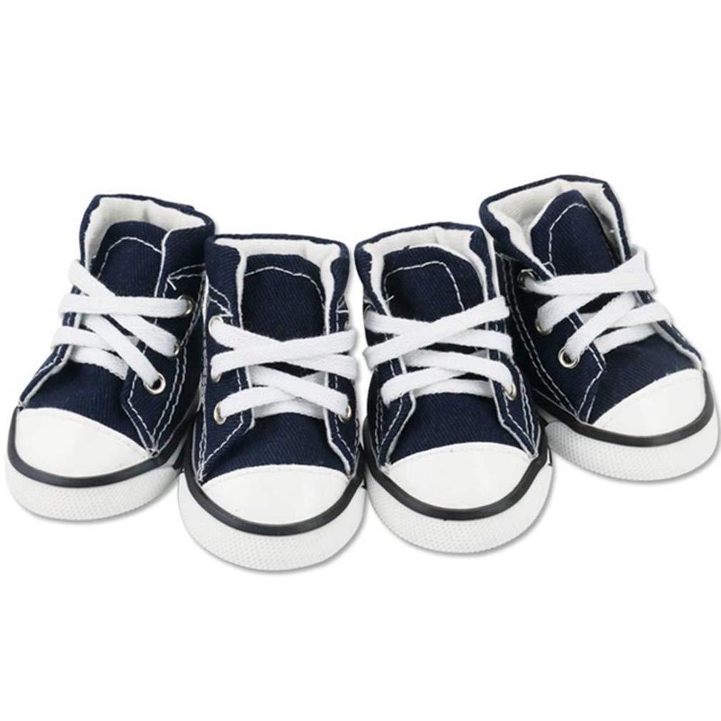 EBRICKON Denim Dog Shoes Sport Anti-Slip Sneaker Casual Pet Shoes for Dog Teddy Yorkie Labrador Boots Large Size Dog Shoes