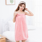 Custom microfiber plush soft Snap magic closure beach Wrap bath towel dress