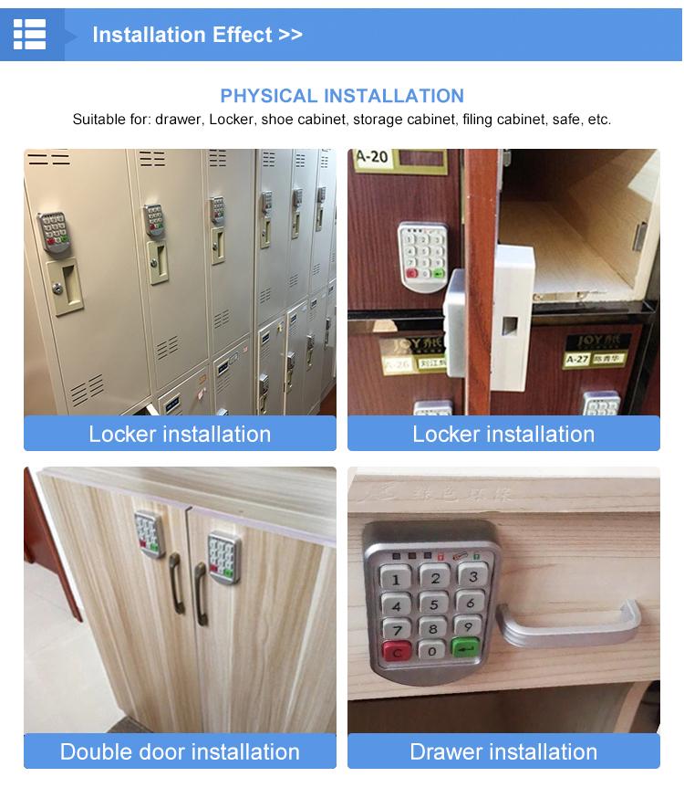 2019 new electric cole combinação fechamento da gaveta armário de arquivo de aço com código de bloqueio de segurança fechamento da gaveta De Baixo Preço