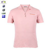 New Design Man V-Neck Pink Polo Shirt With Wholesale Price