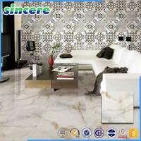 Slippery and shiny ceramic tile in bedroom