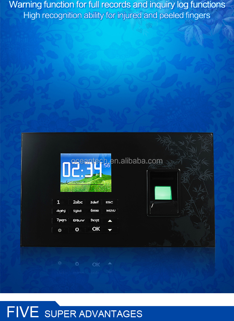 Wage/ Salary Calculator Top Quality Employee Biometric Fingerprint Time  Clock Fingperprint Attendance Recorder On Sale - Buy Salary Check Biometric