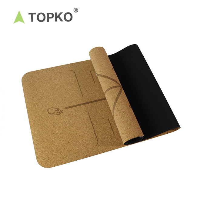 TOPKO Factory Price Private Label Eco Friendly Natural Cork Yoga Mat