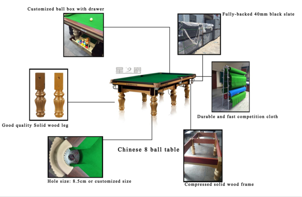 10 Ft Snooker Table Standard Size For Sale