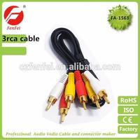Super quality 3rca plugs to 3rca plugs rca cable