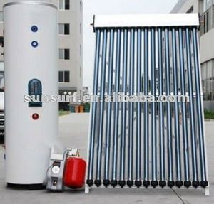 SunSurf ISO CE SRCC Keymark Split Pressurized Solar Water Heater Combined With gas heater and house heating