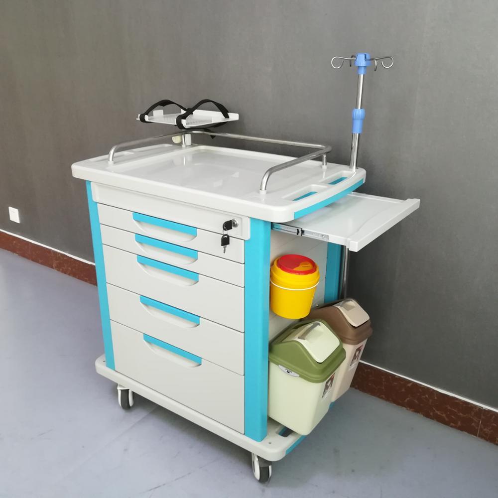 hospital nursing trolley medical crash cart for sale