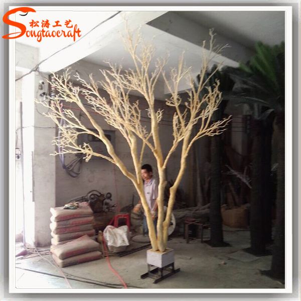 Artificial Dry Tree Trunk Stylized Tree Without Leaves For