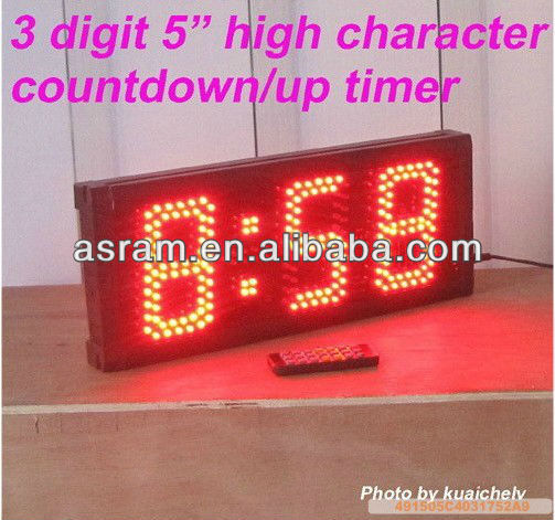 led countdown display,waterproof Outdoor Semi-outdoor single red color 1 line led countdown display