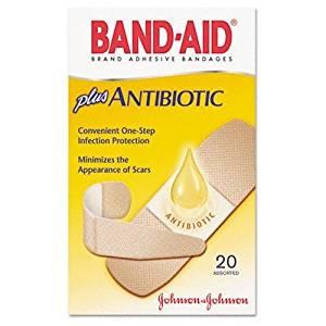 Johnson amp; Johnson JOJ-5570 Band-aid Antibiotic Bandage - Beige
