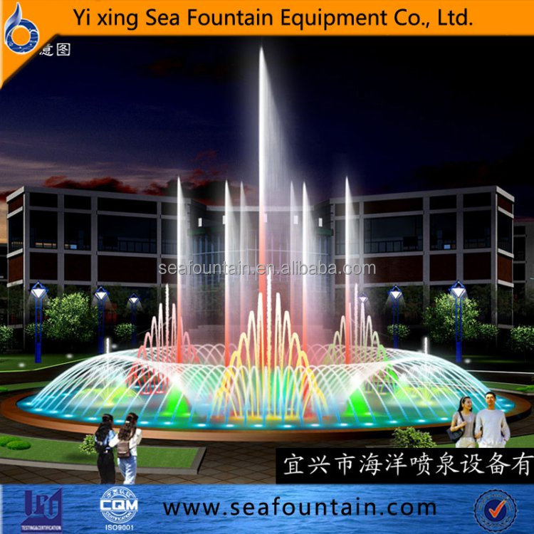 good-looking color changing musical dancing water fountain
