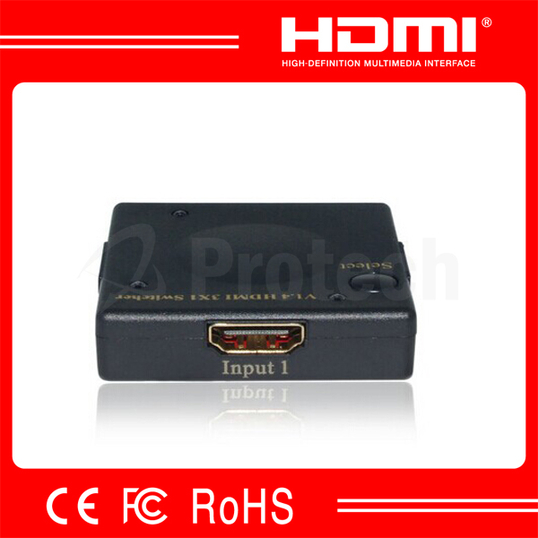 1.4v hdmi switcher support full 3d 4k x2k mini 3x1 switcher for hd video