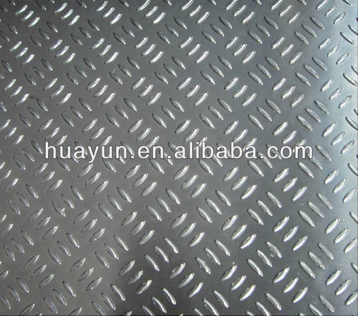 A5083 ,A5754 aluminium embossed sheet,diamond bright for semi-trailer