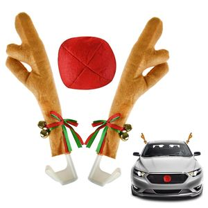 Customized reindeer plush decoration car antlers nose plush kit