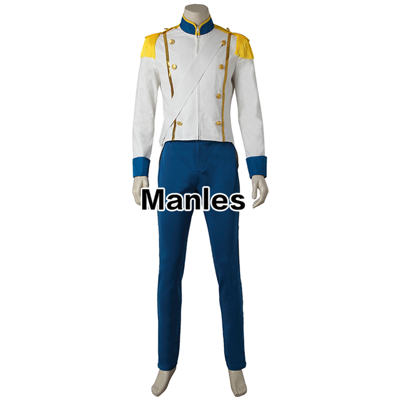 4e55c50d25db2 Prince Eric Costume Cosplay The Little Mermaid Outfit Carnival Clothes  Adult Men Halloween Clothing Movie Suit Male Custom Made