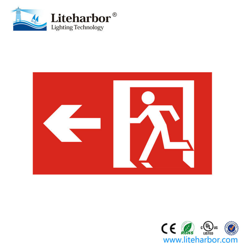 UL Listed Escape Running Man ABS Exit Sign