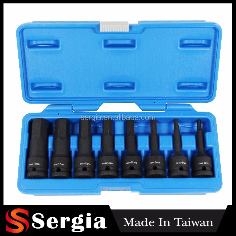 OEM Wholesale Impact Hex and TRX-Star Key Set 8pc 1/2 Inch SQ Drive