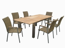 stainless steel farme dining table set outdoor furniture