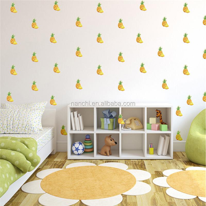 Bricolage Dore Ananas Enfants Chambre Stickers Muraux Creatifs