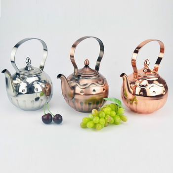 Dubai Stainless Steel Decorative Arab Tea Kettle Arab Tea Pot With