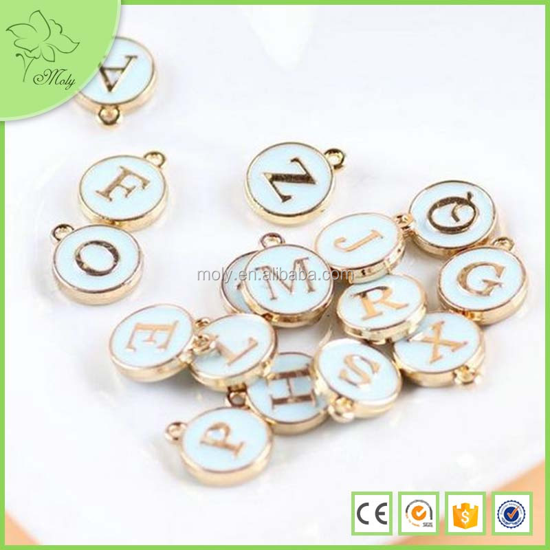 new product alphabet letter,alphabets pendant designs gecko decorated birthstone religious charms